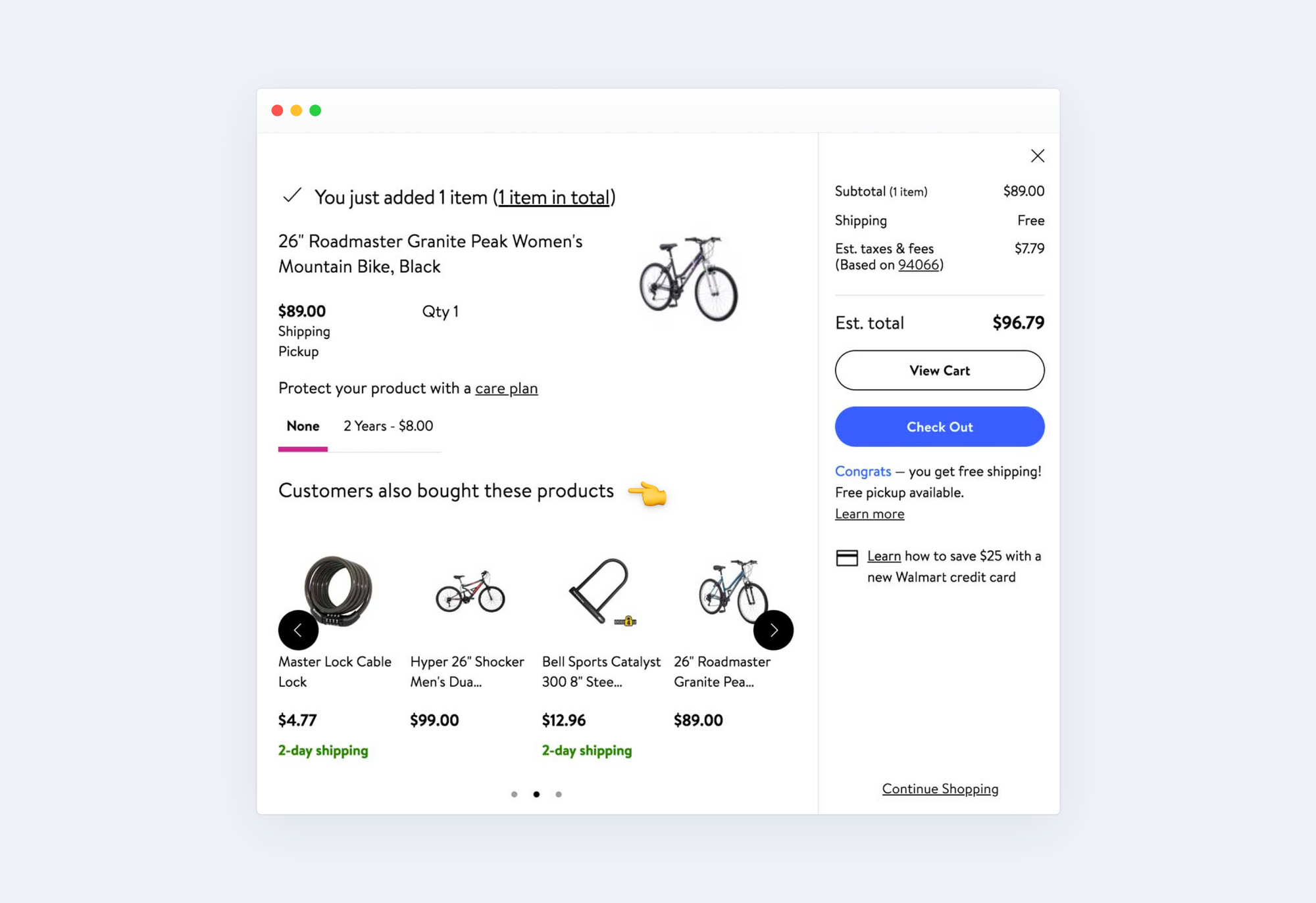 Cross-selling Shopping cart
