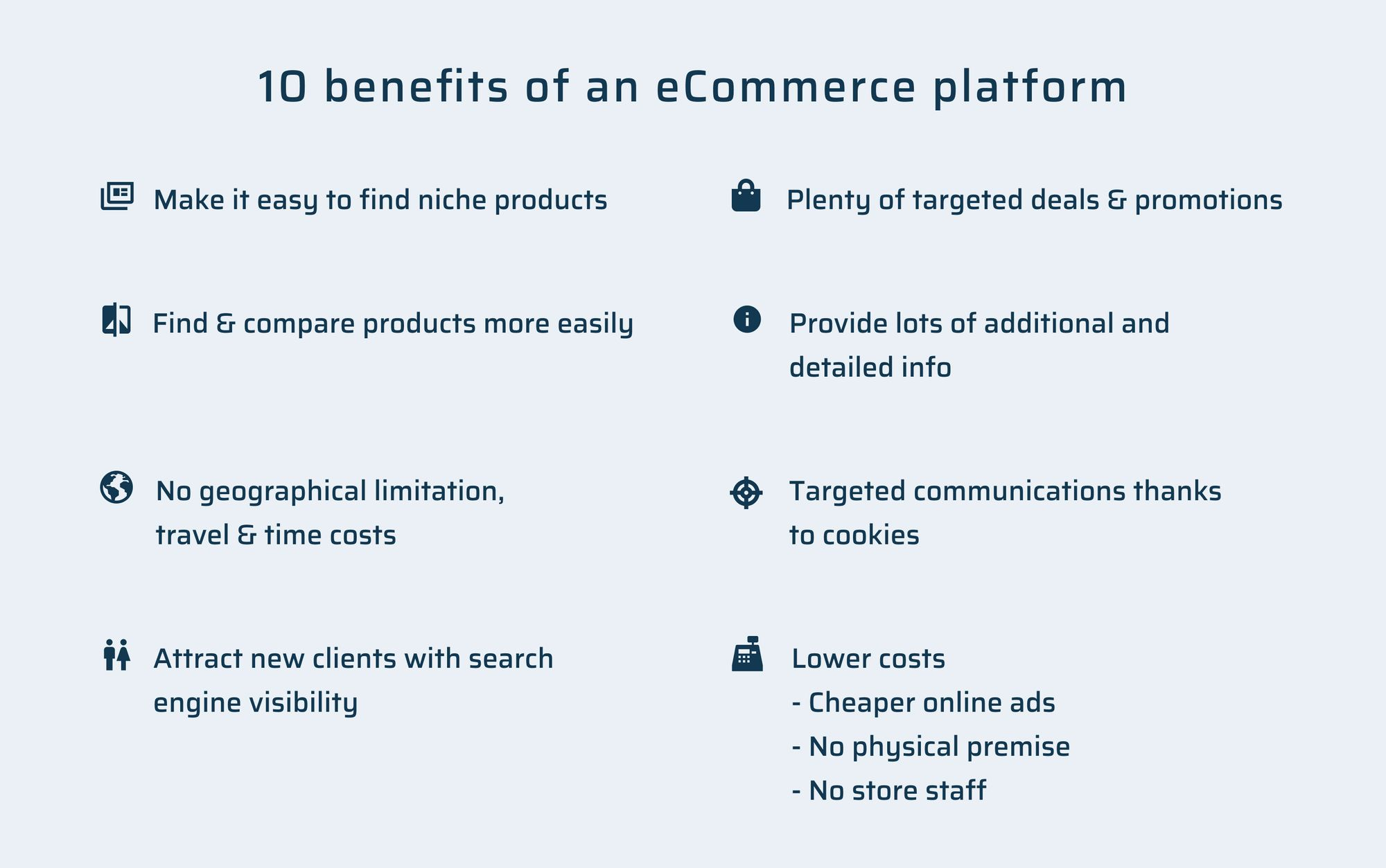 Benefits of eCommerce platform