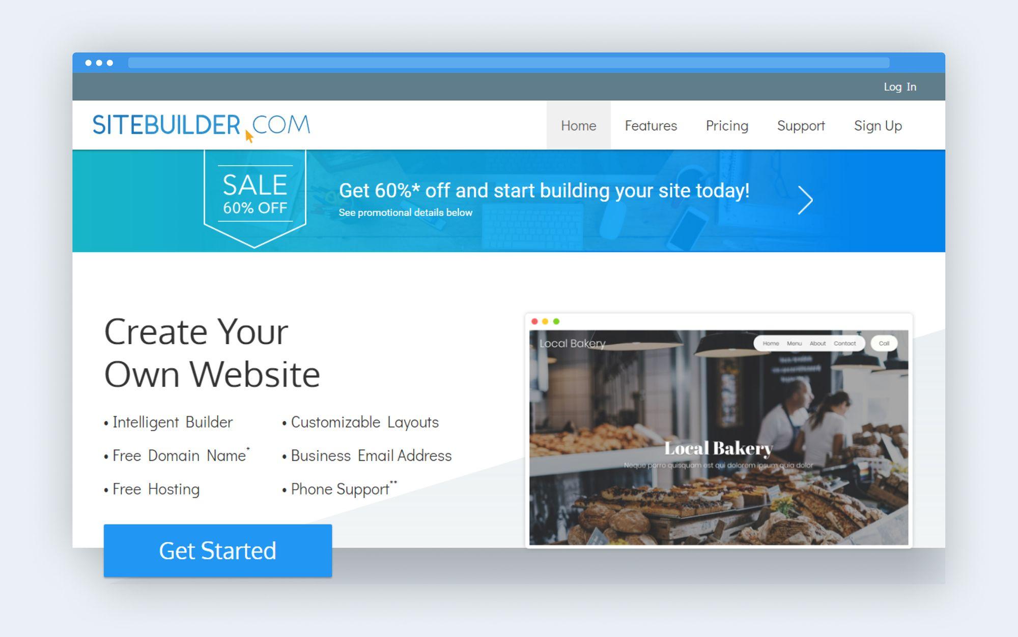 Sitebuilder platform