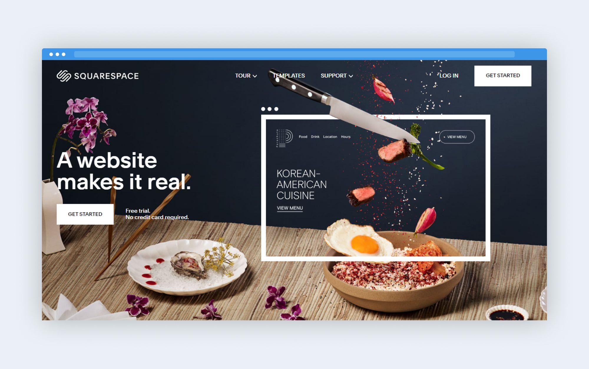 Squarespace platform