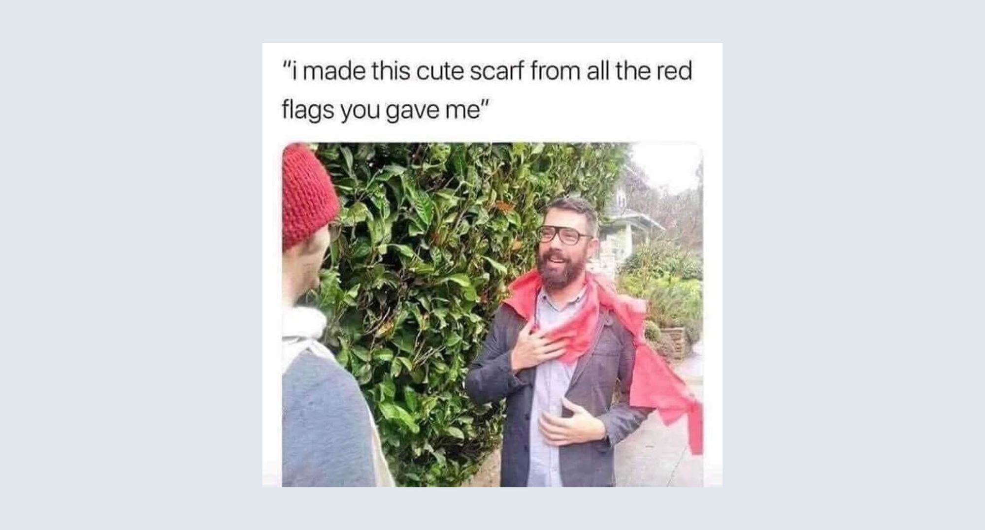 red scarf Internet meme