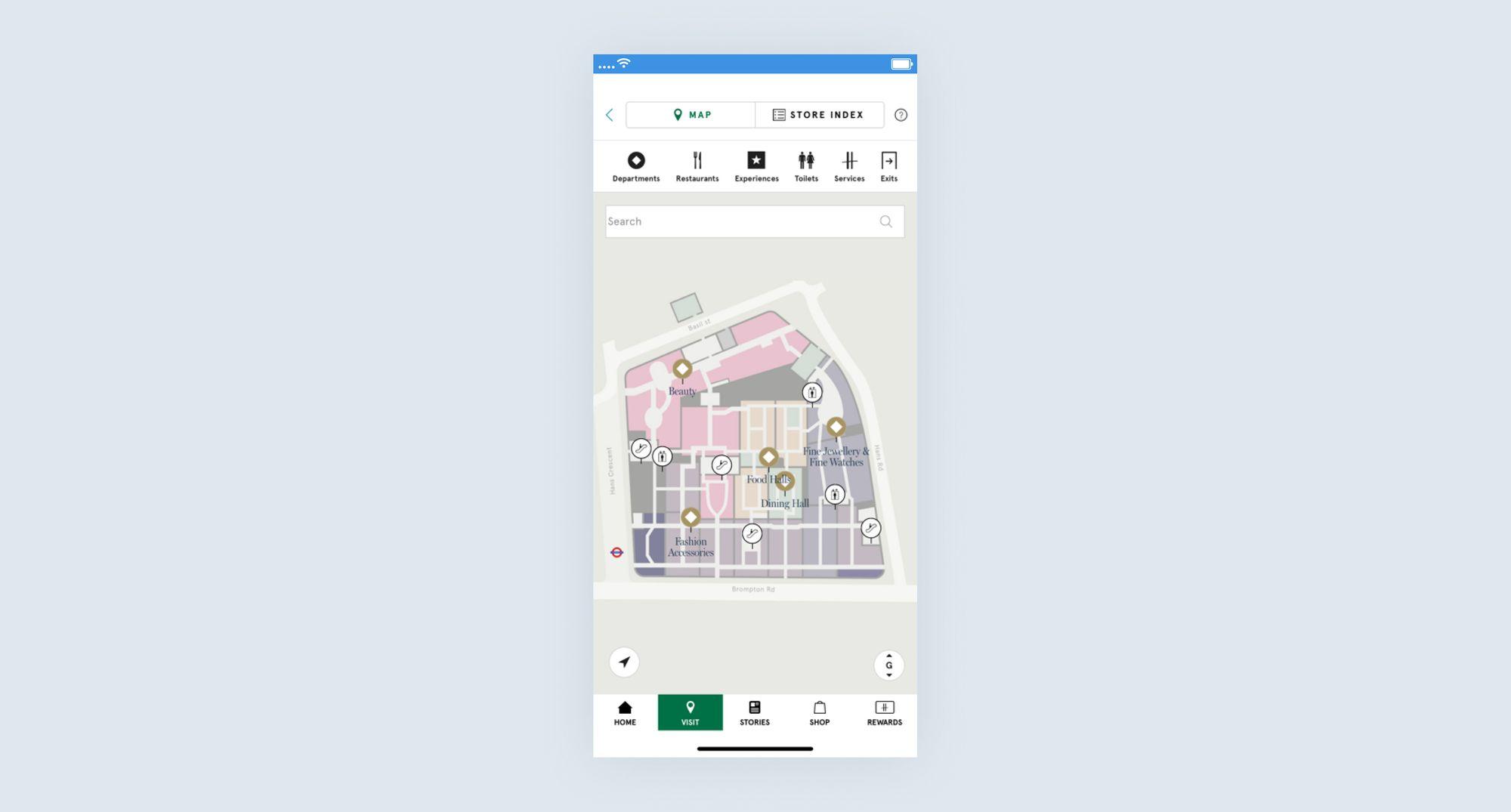 Harrods mobile app