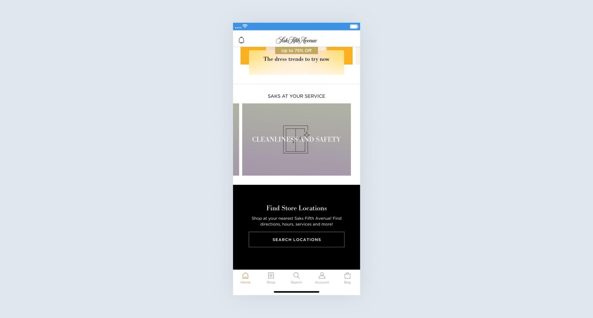 Saks Fifth Avenue mobile app