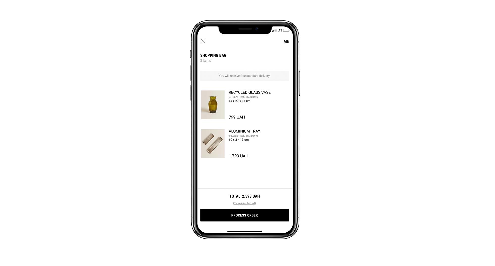 shopping cart mobile app