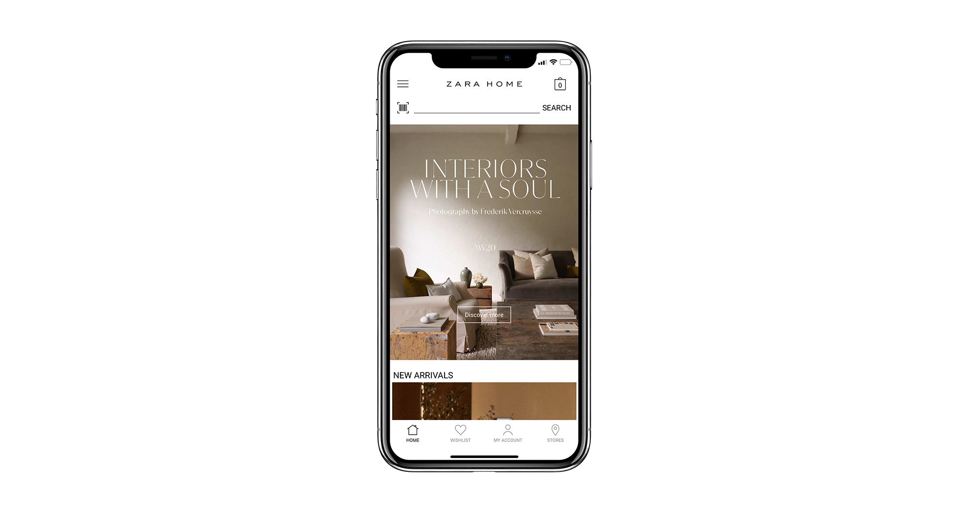 mobile app main page