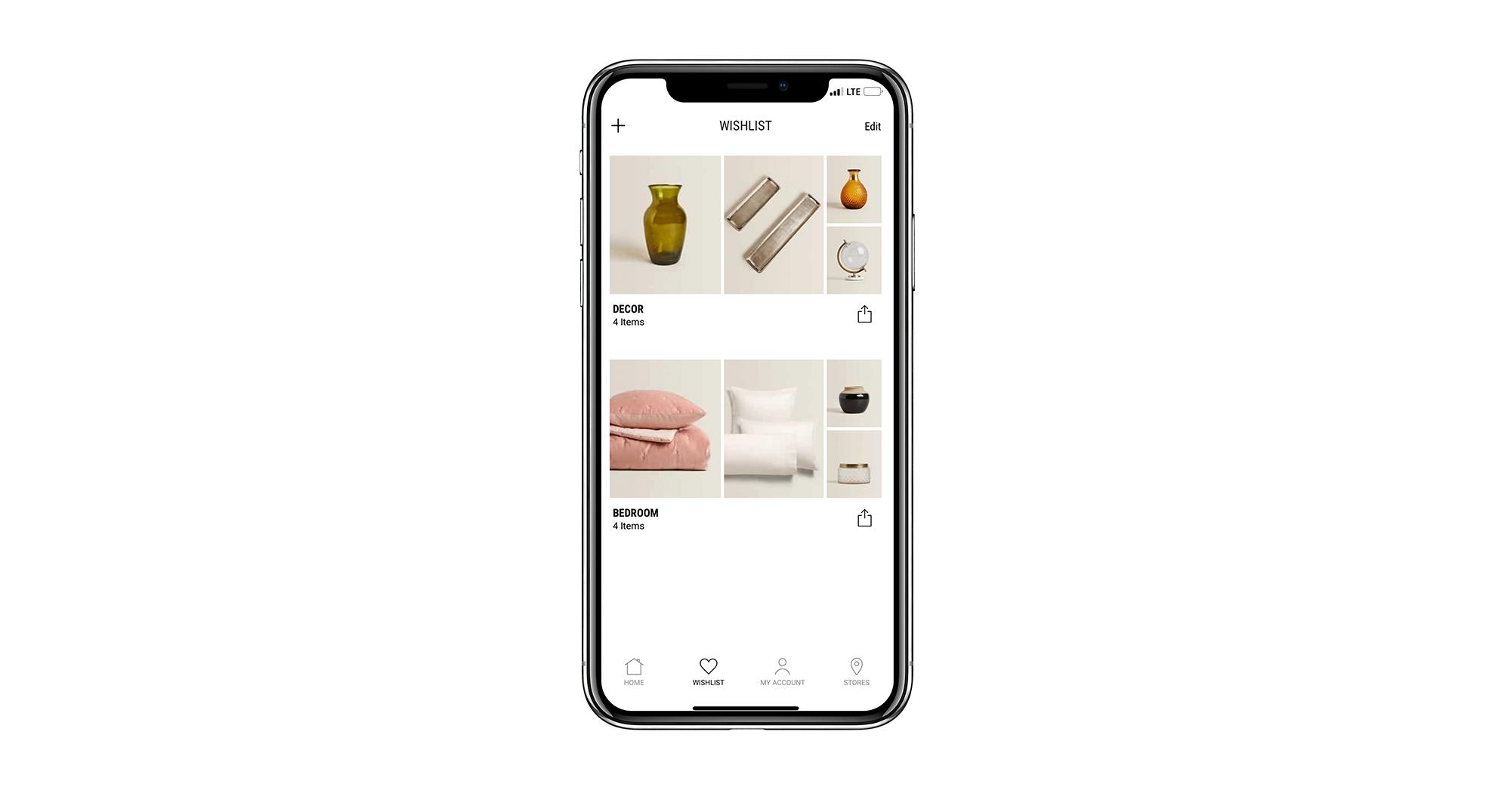 Wishlist mobile app