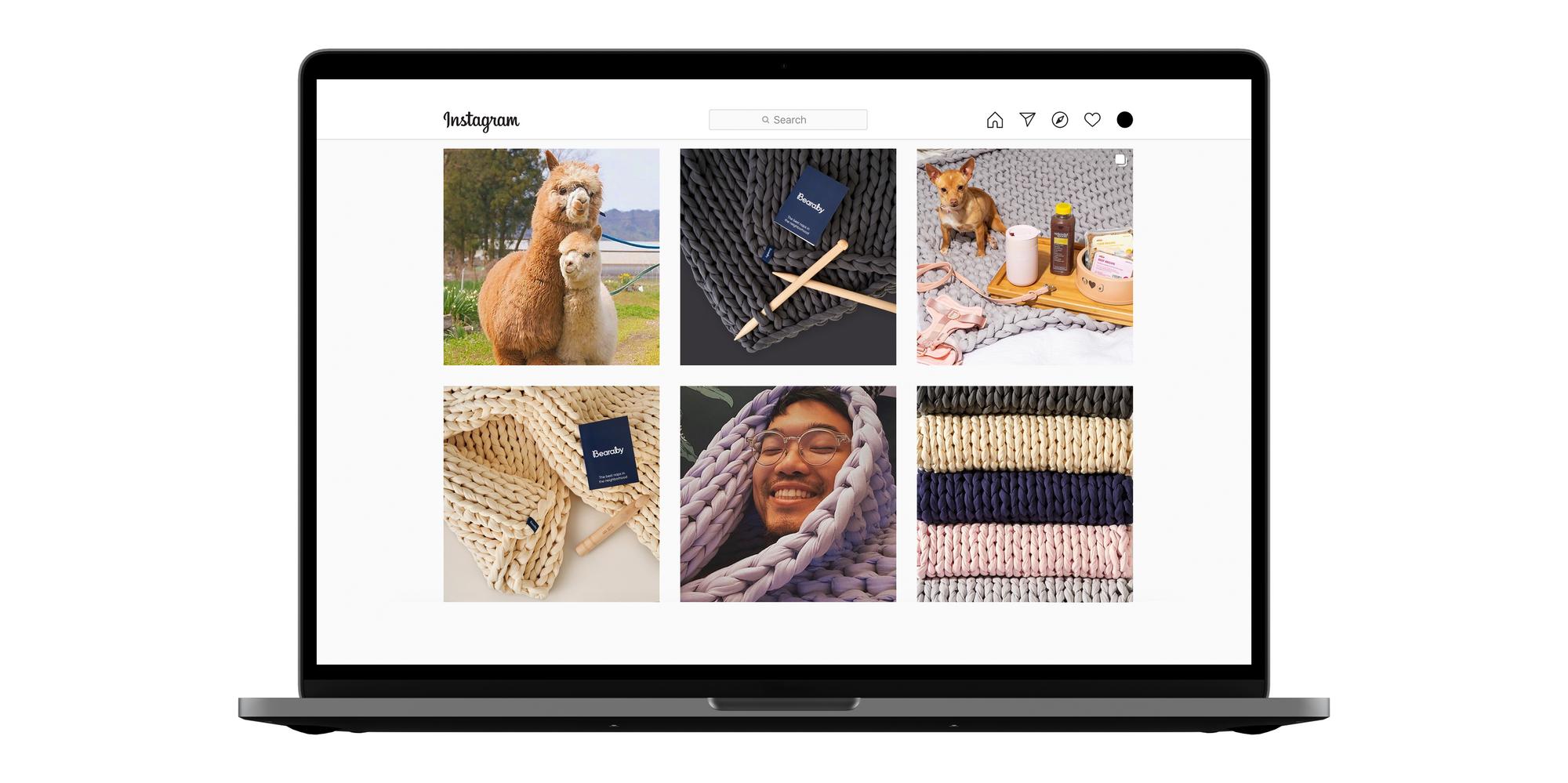 Bearaby Instagram eCommerce visual brand