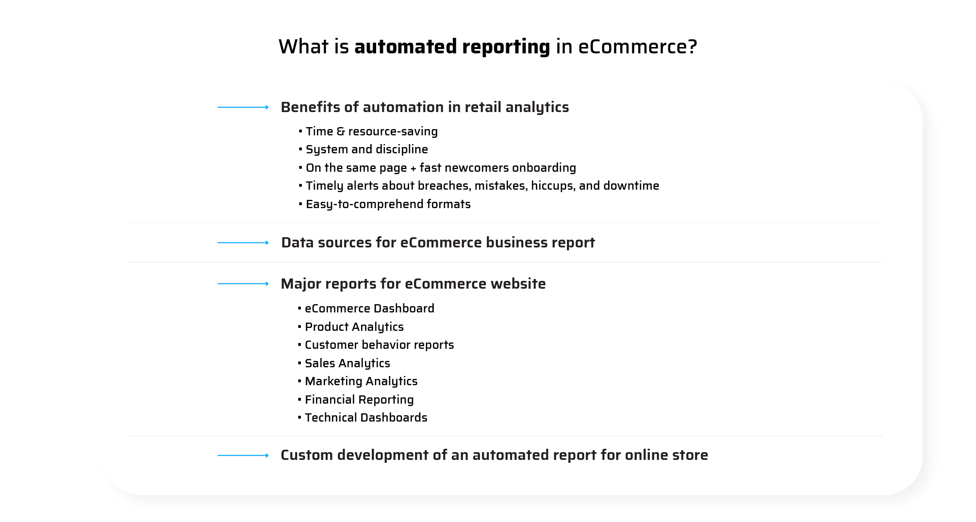 What is automated reporting in eCommerce Automated eCommerce reports